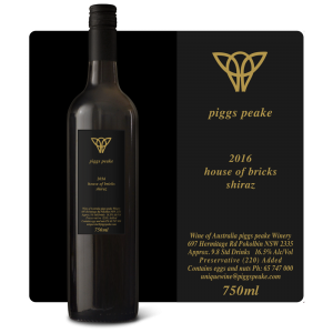 2016 House of Bricks Shiraz