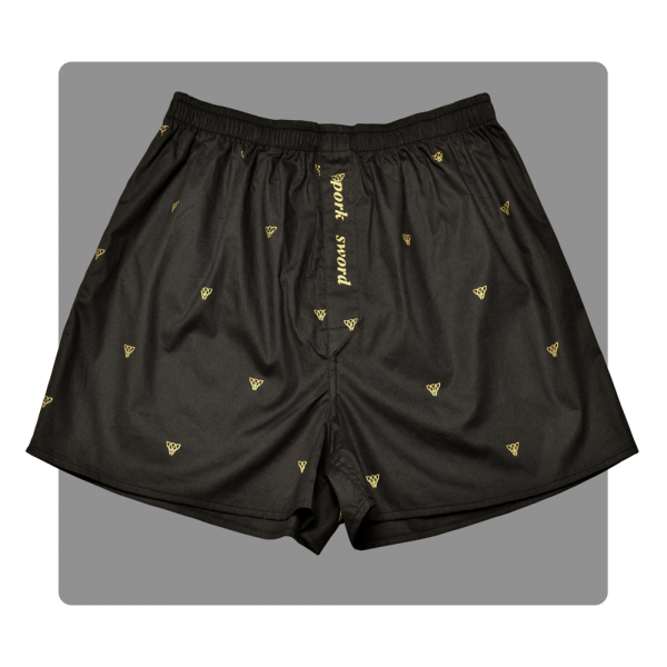 Piggs Peake boxer shorts with 'pork sword' fly detail