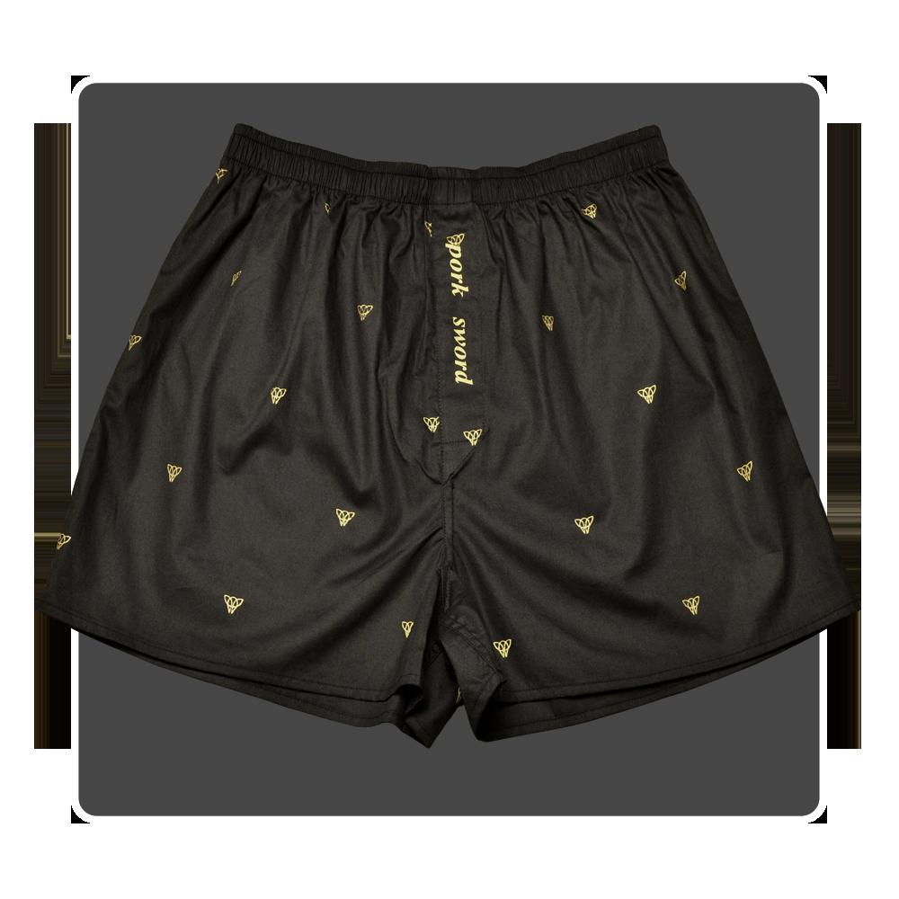 Piggs Peake boxer shorts with 'pork sword' fly detail