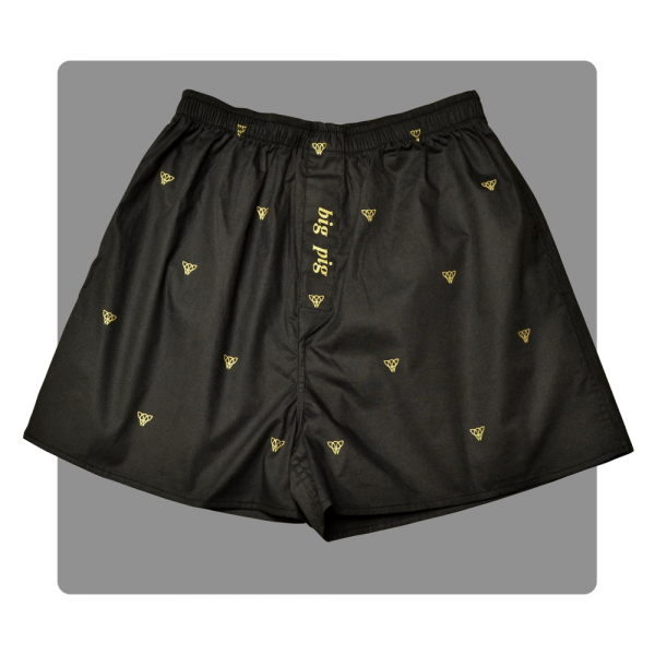 Piggs Peake boxer shorts with 'big pig' fly detail