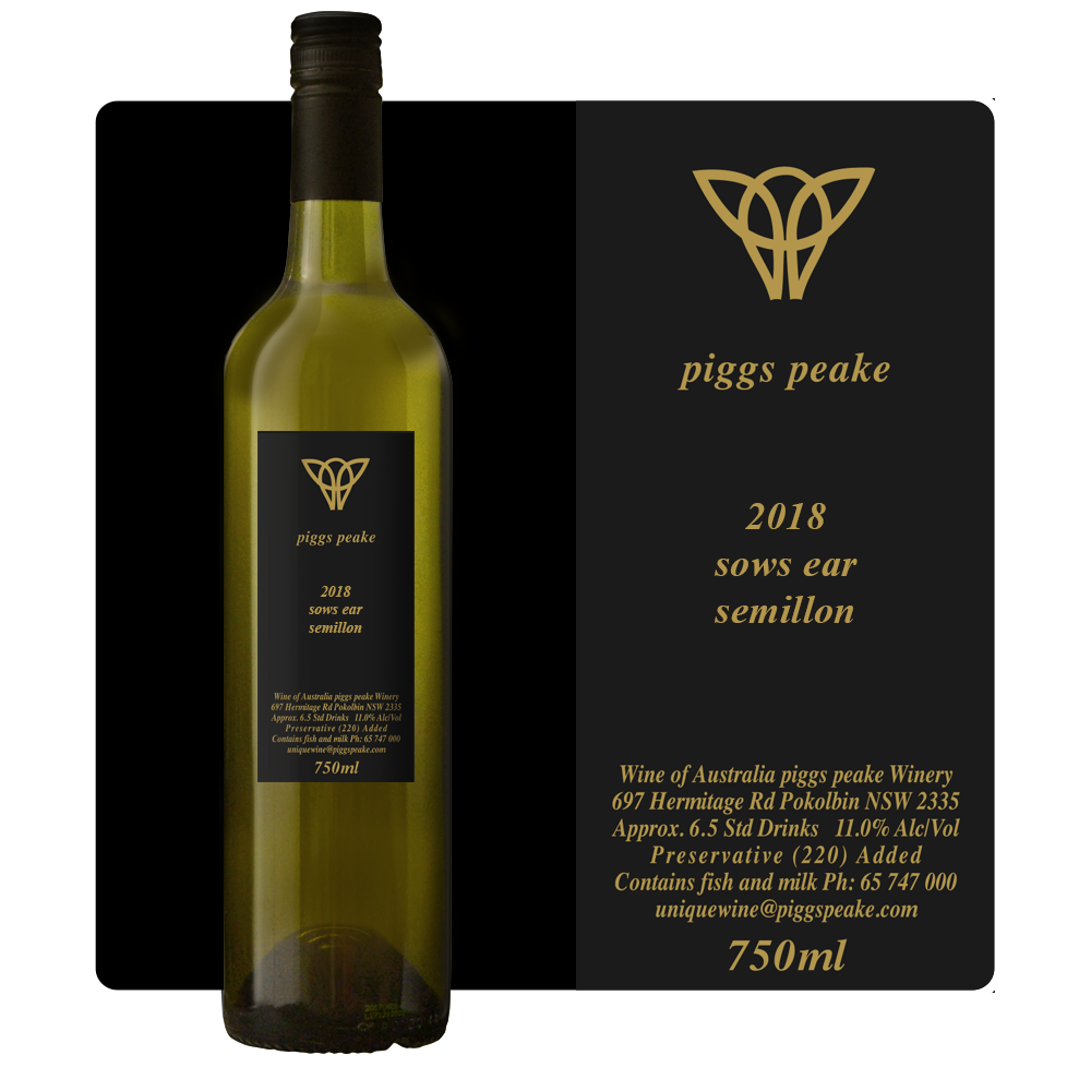 2018 Sows Ear Semillon