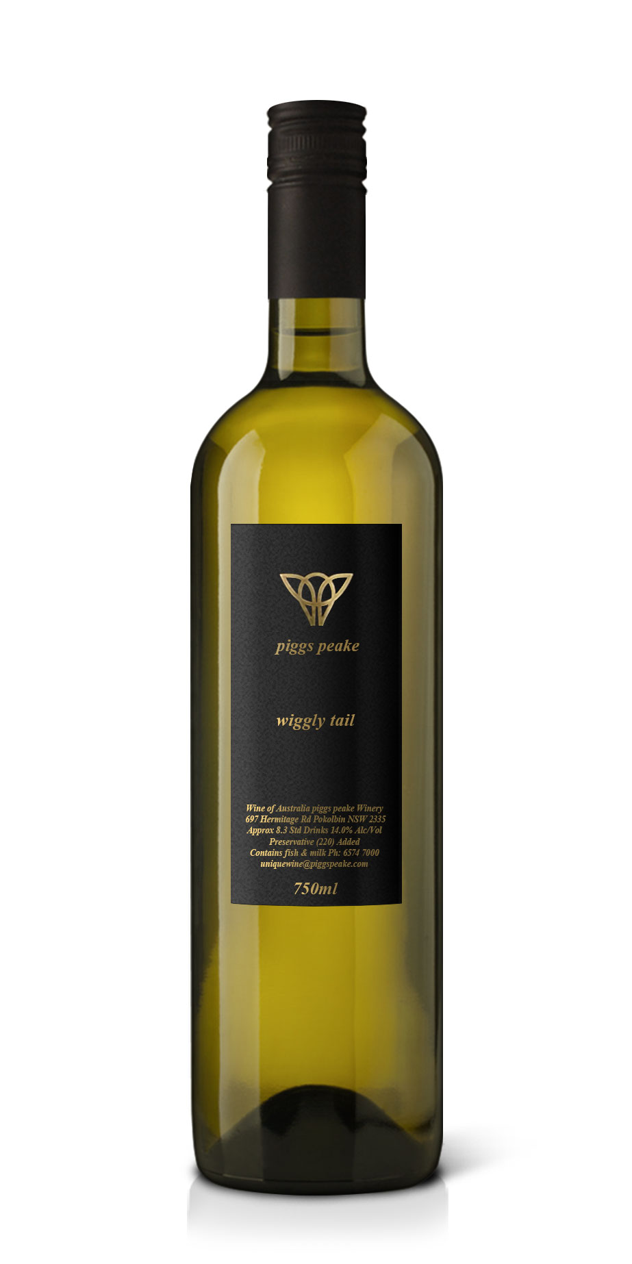 Wiggly Tail - Dry White Wine by piggs peake